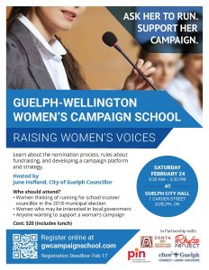 Guelph Wellington Women's Campaign School